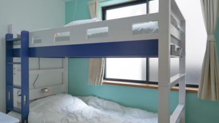 1階のお部屋は2段ベッドがあります