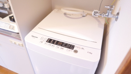 洗濯機があれば長期滞在も安心です