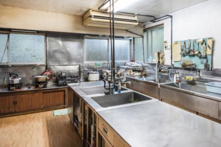 大人数で調理が出来る大型キッチンあり
