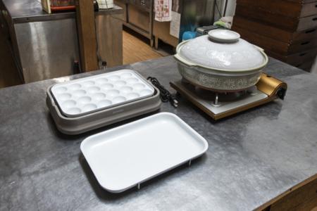 土鍋セット&たこ焼き器有料レンタルあり