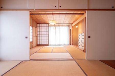和室8畳と6畳の続き間