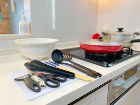 調理器具はバッチリ揃っています