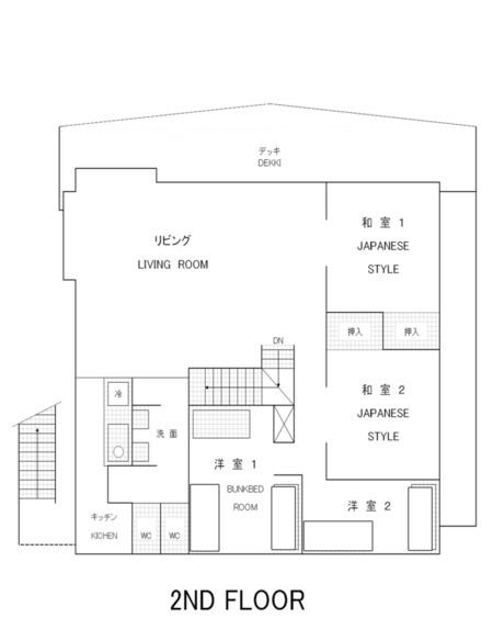 コテージ2F平面図
