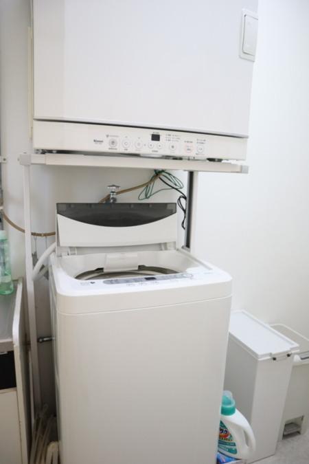 洗濯機&乾燥機。洗剤あり