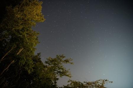 デッキから見える満天の星空