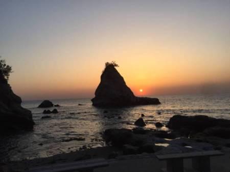 南無谷海岸の夕暮れ
