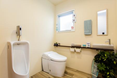 バリアフリーの広いトイレ