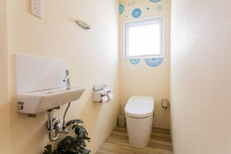 トイレが二箇所あるので大人数も安心