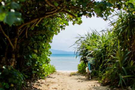 人が少なくとても静かな海まで徒歩2分