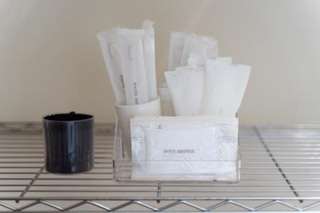歯ブラシ、タオル類も完備