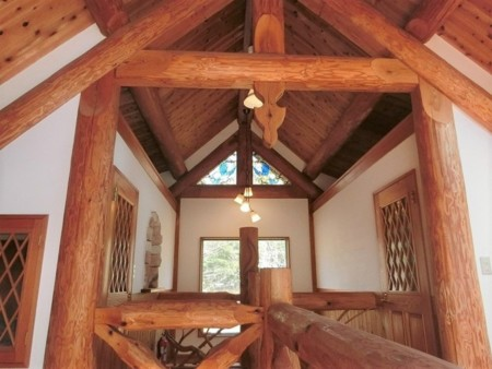曲木を使用した螺旋階段