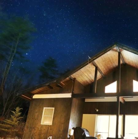 綺麗な別荘 綺麗な星空