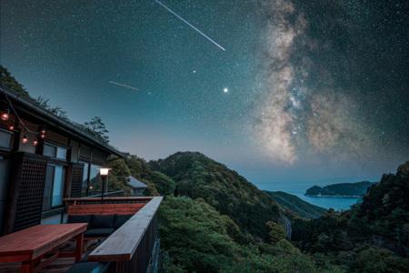 条件が揃うと星空が見えます