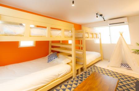 2段ベッドを2台置いています。