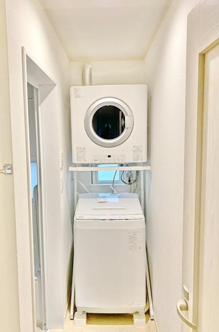 洗濯機もあるので、長期でもご宿泊できます