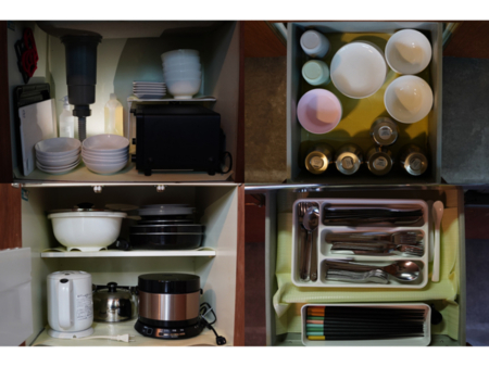 食器類完備!お食事は室内でも十分