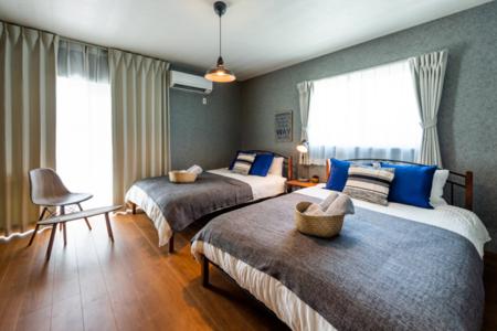 寝室3、明るくて、ダブルベッドで広々