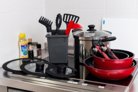 調理器具一式揃っています