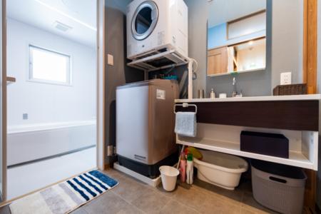 洗面、洗濯機・乾燥機は2階と3階に2つ有
