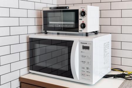 レンジ、トースター、湯沸かし器、炊飯器