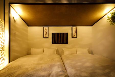 リビングのソファをベッドとして使用