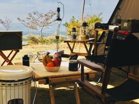 お庭でプライベートキャンプ