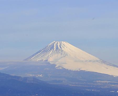 テラスより望遠で撮影した富士山