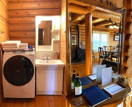洗濯機/洗面所/大型のミラー棚