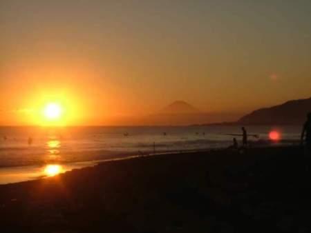 平砂浦海岸からの夕陽は絶景です♪