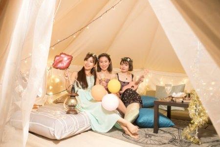 テントのインテリアがとてもかわいいですよ