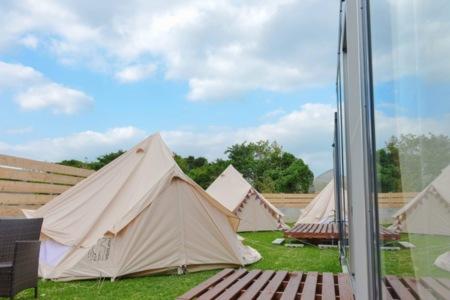 テント 3つあります