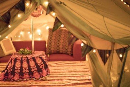 テントに布団のご用意もあります