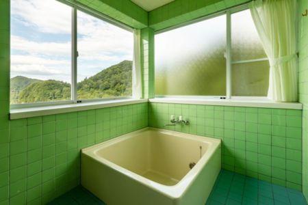 お風呂からの眺めがまたすばらしい