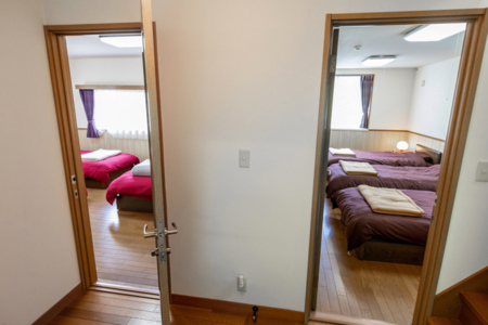 寝室は2部屋。