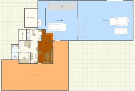敷地の配置図。